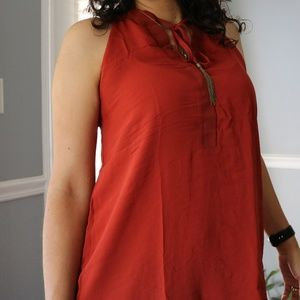Lily White (Sheer Tassel Tie Sleeveless Tunic)